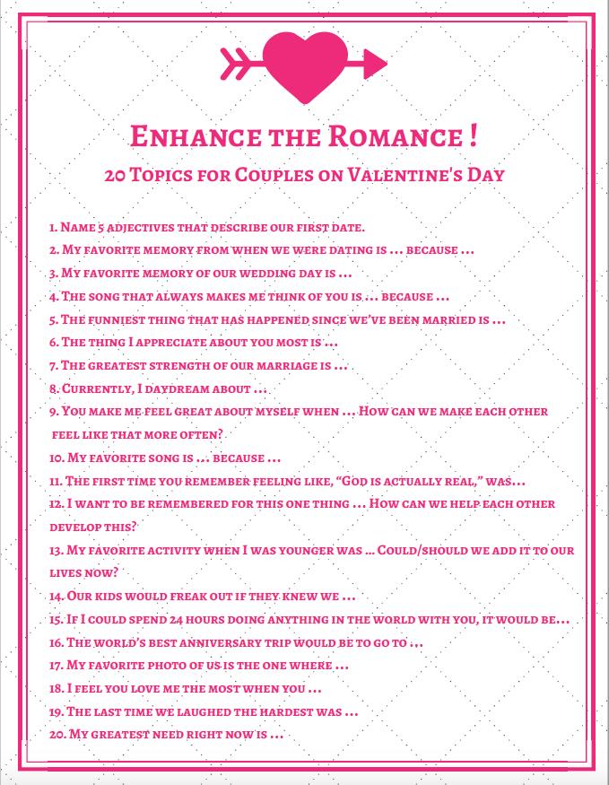 Romantic conversation topics